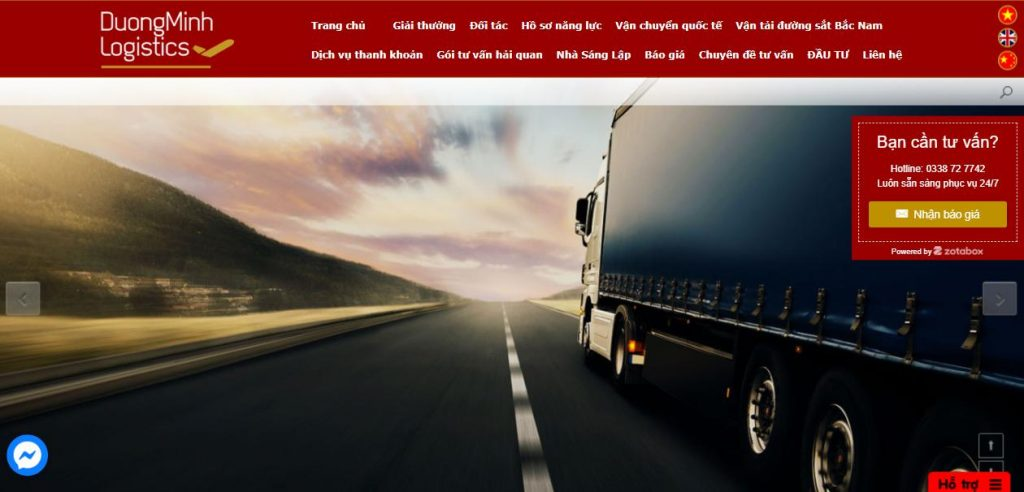 Công ty TNHH dịch vụ giao nhận vận tải quốc tế Dương Minh