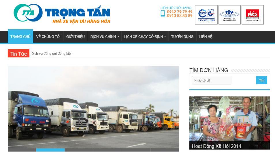 Công ty dịch vụ vận tải hàng hóa Bắc Nam Trọng Tấn
